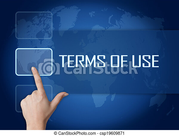 Los términos de uso - csp19609871
