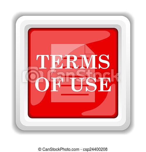 Los términos del icono de uso - csp24400208