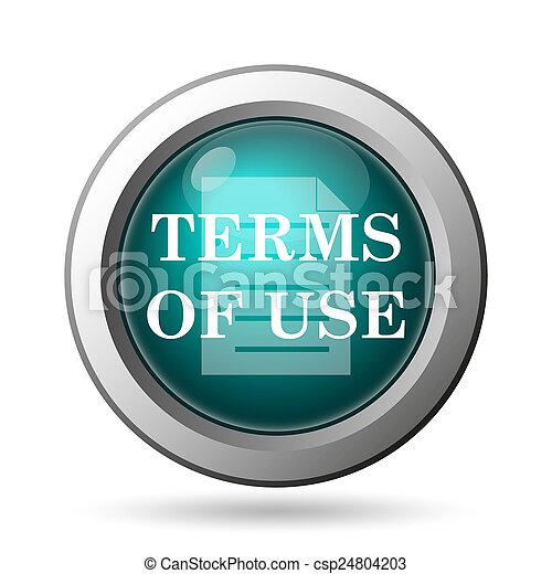 Los términos del icono de uso - csp24804203