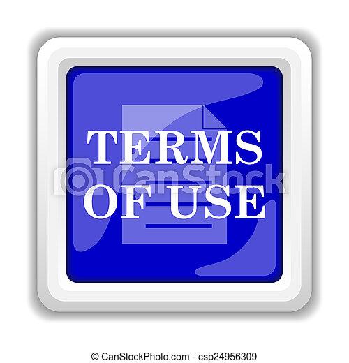 Los términos del icono de uso - csp24956309