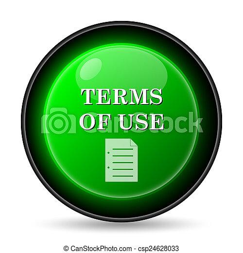 Los términos del icono de uso - csp24628033