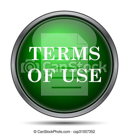 Los términos del icono de uso - csp31007352
