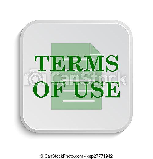 Los términos del icono de uso - csp27771942