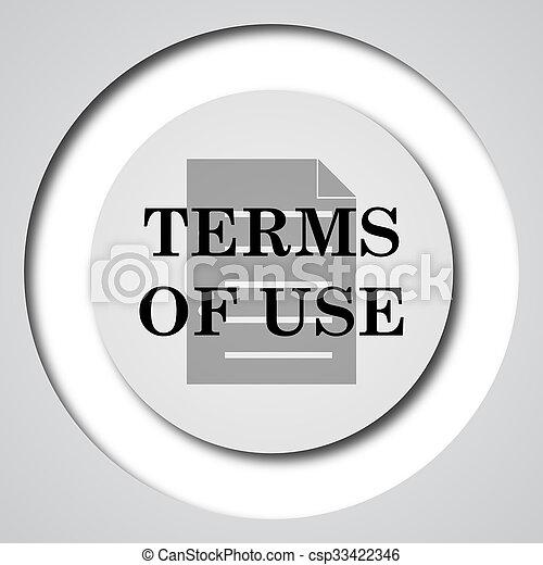 Los términos del icono de uso - csp33422346