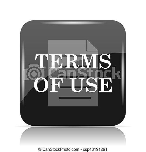 Los términos del icono de uso - csp48191291