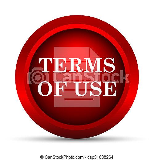 Los términos del icono de uso - csp31638264