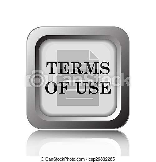 Los términos del icono de uso - csp29832285