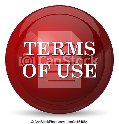Los términos del icono de uso - csp34164684