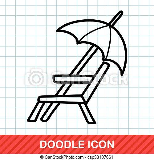 Loungers doodle - csp33107661