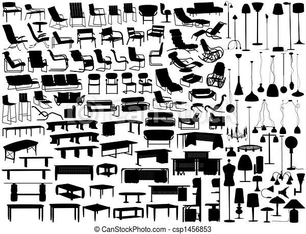 Muebles y luces - csp1456853