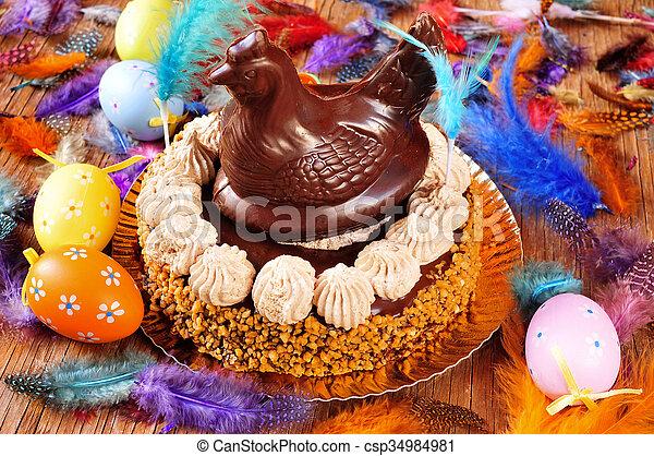 Mona de pascua, un pastel ornamentado comido en España el lunes de Pascua - csp34984981