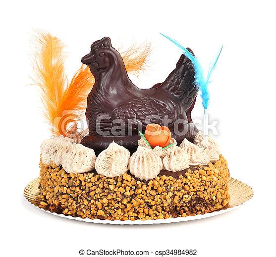 Mona de pascua, un pastel ornamentado comido en España el lunes de Pascua - csp34984982