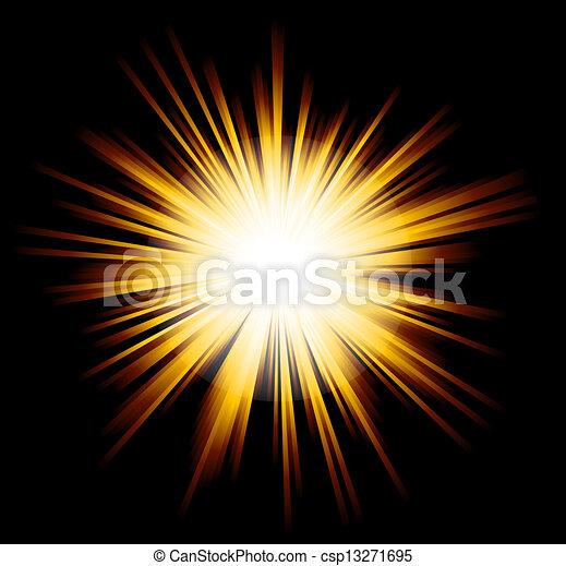 Luz brilla con colores del arco iris - csp13271695