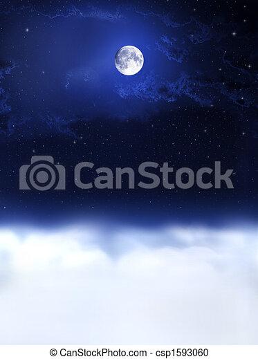 Luz de luna y sueños nocturnos... - csp1593060