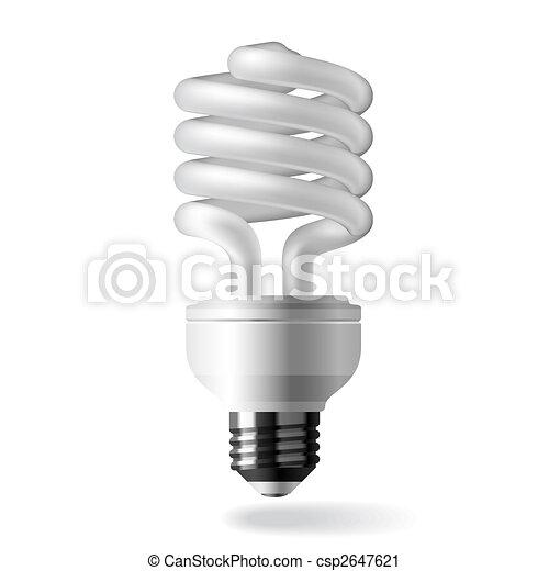Energía ahorrando bombillas - csp2647621