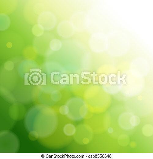 Una luz abstracta verde. - csp8556648