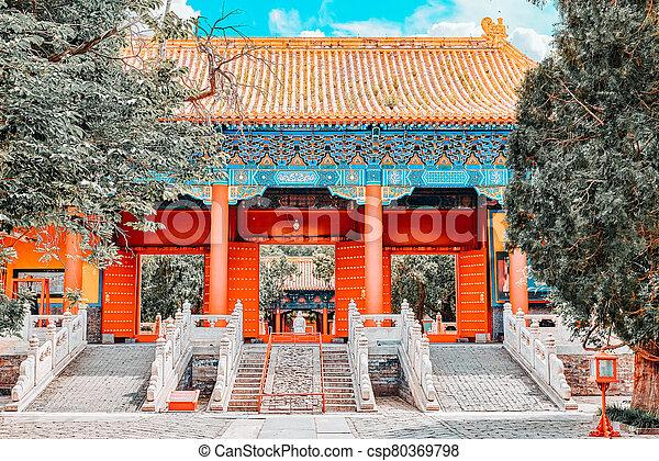 más grande, templo, beijing, china., confucius, confuciano, segundo - csp80369798