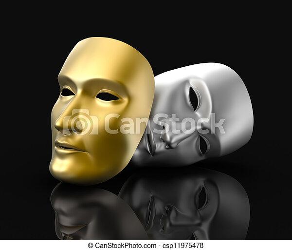 El concepto de máscaras - csp11975478