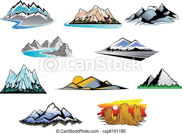 Los picos de montaña - csp6191185