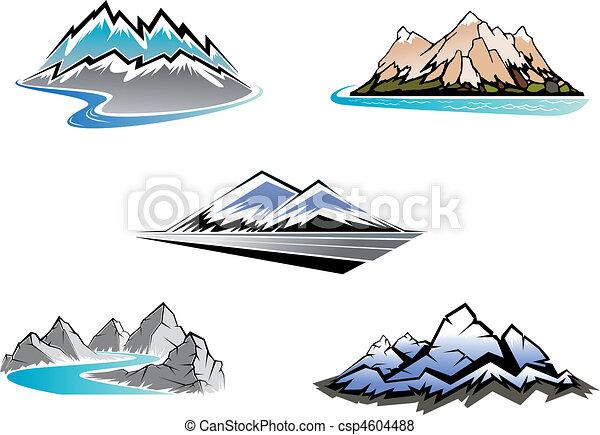 Los picos de montaña - csp4604488