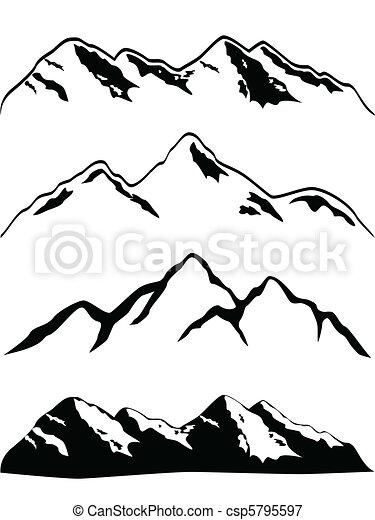 Los picos de montaña - csp5795597