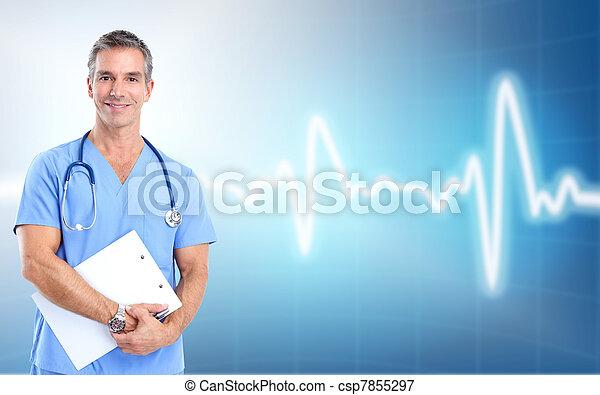 Médico doctor cardiólogo. Salud. - csp7855297