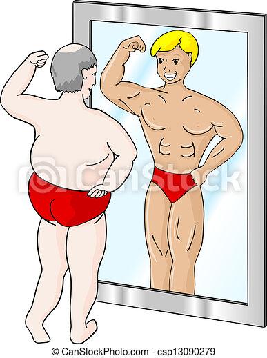 Gordo musculoso - csp13090279