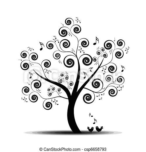 Árbol de música - csp6658793