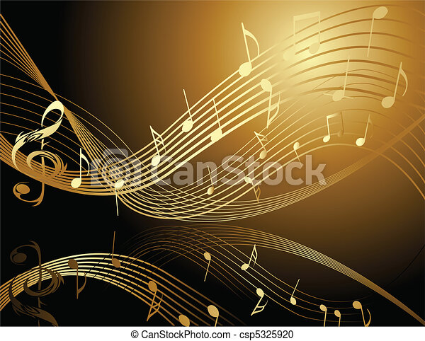 Antecedentes con notas musicales - csp5325920