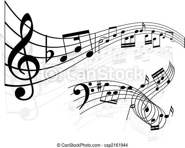 Notas de música de fondo - csp2161944
