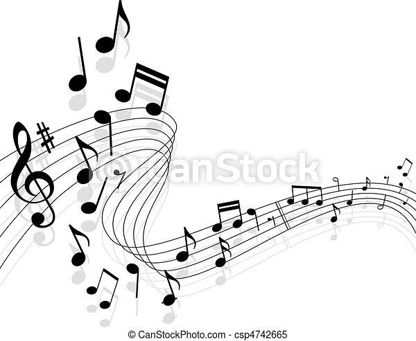 Un fondo musical - csp4742665