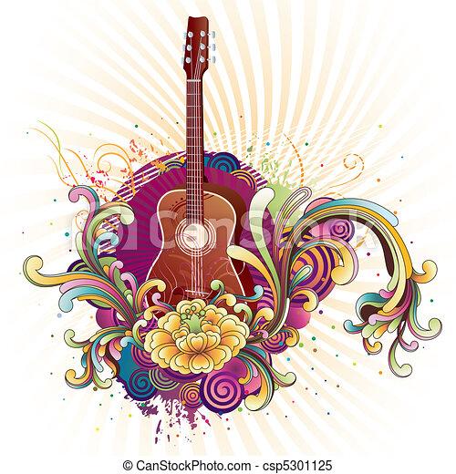 Un fondo musical - csp5301125