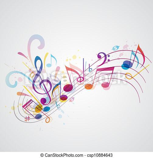 Un fondo musical - csp10884643