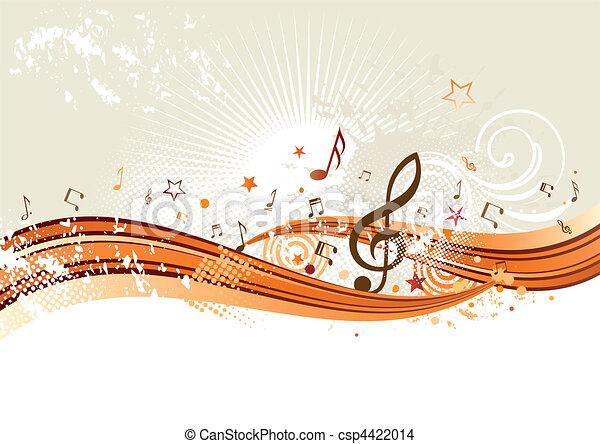 Un fondo musical - csp4422014