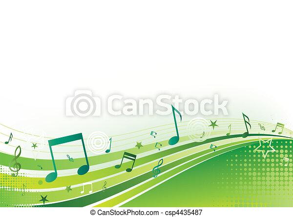 Un fondo musical - csp4435487
