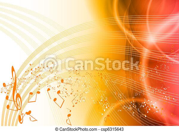 Música roja - csp6315643