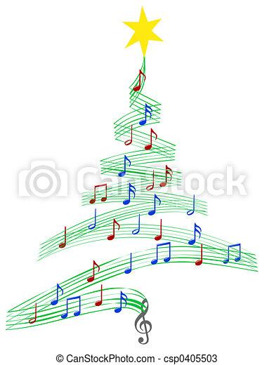 Carol árbol de Navidad - csp0405503