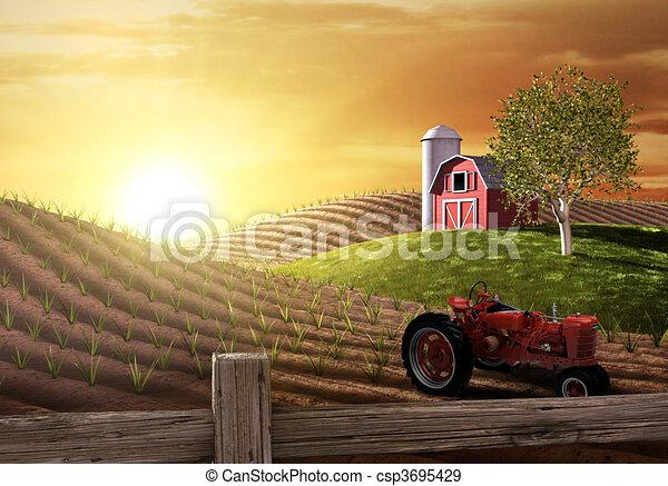Mañana en la granja - csp3695429