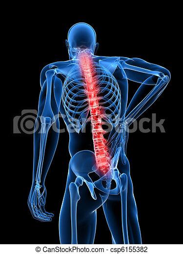 Dolor de espalda masculino - csp6155382