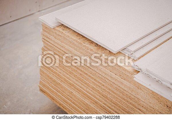 madera contrachapada, materiales de construcción - csp79402288