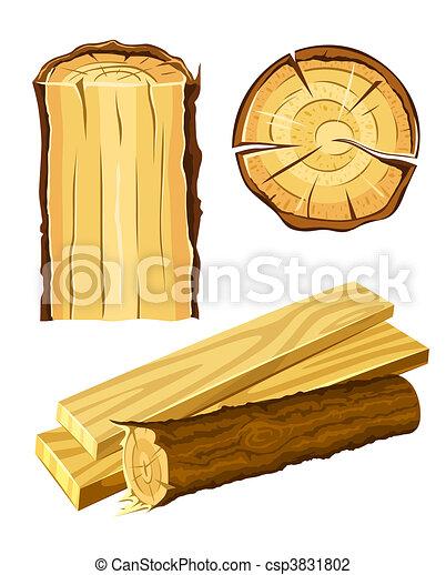Madera material madera y tabla - csp3831802