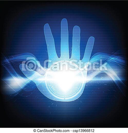 Mano con chispas eléctricas - csp13966812