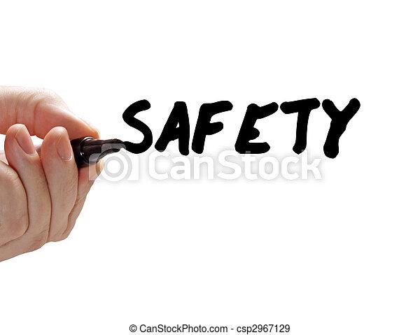 Marcador de mano de seguridad - csp2967129