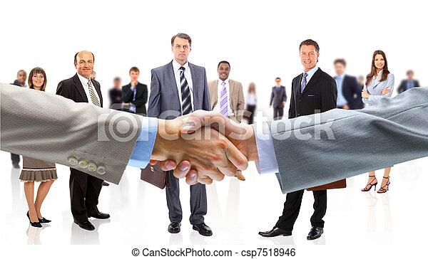 La gente de negocios da la mano - csp7518946
