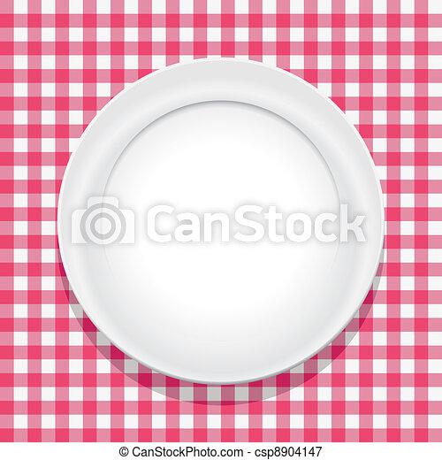 Mantel Vector y plato vacío - csp8904147
