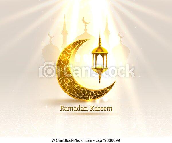 manuscrito, noche, cubierta, arch., dibujado, fondo., saludo, mezquita, diseño, tarjeta, card., vista, ramadan, árabe - csp79836899
