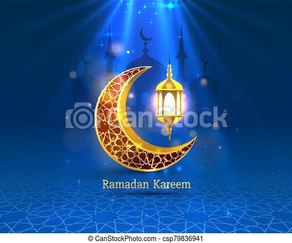 manuscrito, noche, cubierta, arch., dibujado, fondo., saludo, mezquita, diseño, tarjeta, card., vista, ramadan, árabe - csp79836941
