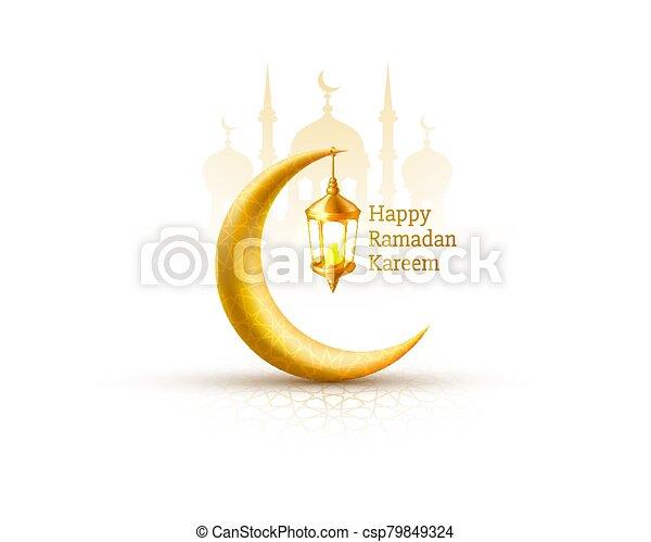 manuscrito, noche, cubierta, arch., dibujado, fondo., saludo, mezquita, diseño, tarjeta, card., vista, ramadan, árabe - csp79849324