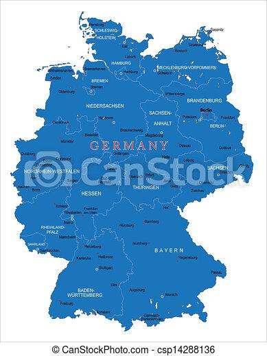 El mapa de Alemania - csp14288136
