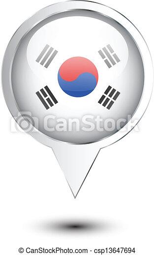 El mapa de localización de la bandera de Corea del Norte - csp13647694